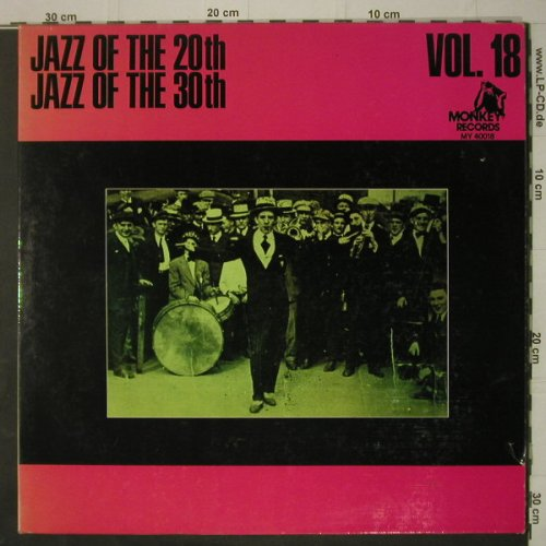 V.A.Jazz Of The 20th & 30th Vol.18: 25 Tr., Foc, vg+/vg+, Monkey(MY 40018), F,  - 2LP - C7287 - 5,00 Euro