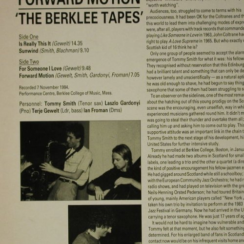 Forward Motion: Berklee Tapes, hep Rec.(2026), UK, 1985 - LP - C7793 - 6,00 Euro