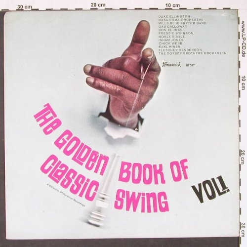V.A.Golden Book Of Classic Swing: Vol.1,, vg+/vg+,(well playable), Brunswick(87 097), D, 1965 - LP - C8941 - 5,00 Euro
