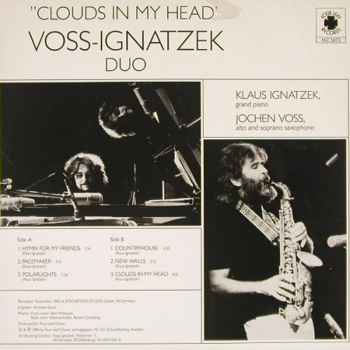 Voss-Ignatzek Duo: Clouds In My Head, m-/vg+, Four Leaf Rec(FLC 5072), S, 1984 - LP - C9396 - 4,00 Euro