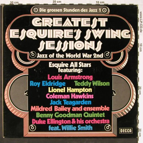 V.A.Greatest Esquire's SwingSession: Die grossen Stunden des Jazz 1, Decca(PD 12004), D,  - LP - E1127 - 5,00 Euro