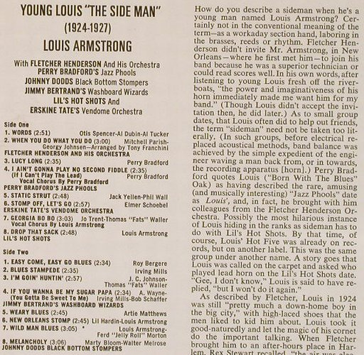 Armstrong,Louis: The Side Man, 1924-27 (Young Louis), Coral(COPS 2879), D,  - LP - E1494 - 5,00 Euro