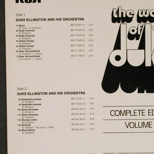 Ellington,Duke: The Works Of Duke Vol.8, RCA(741114), F,  - LP - E2060 - 5,00 Euro