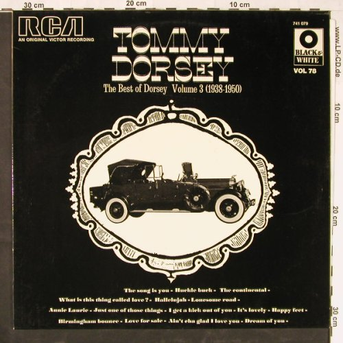 Dorsey,Tommy: Best Of Dorsey Vol.3 (1938-50), RCAorange(741 079), F,  - LP - E2163 - 5,00 Euro