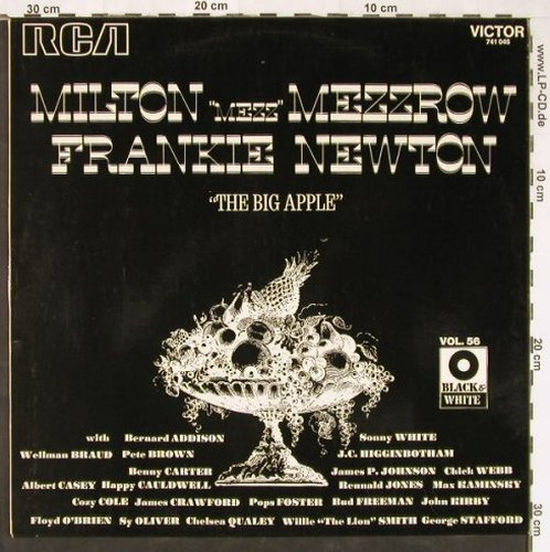 "Mezzrow,Milton""Mezz""&Frankie Newton: The Big Apple, RCA Vol.56(741 046), F, 1972 - LP - E2168 - 6,00 Euro"