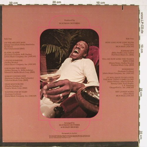 Big Ben  sings: Scatman Crothers, co, Motown(M 777L), US, 1973 - LP - E3878 - 12,50 Euro