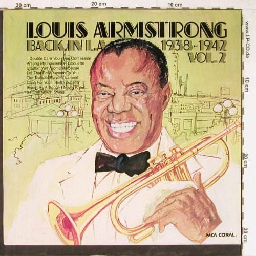 Armstrong,Louis: Back In L.A.1938-42 Vol.2,whMuster, MCA(6.22150 AG), D,Promo,  - LP - E3898 - 9,00 Euro