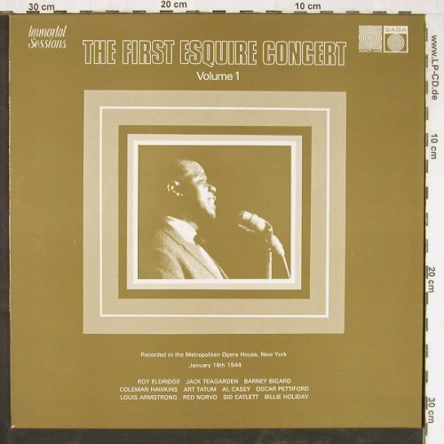 V.A.Second Esquire Concert Vol.1: January 18th 1944,8 Tr., Saga(6922), UK, 1974 - LP - E3927 - 6,00 Euro