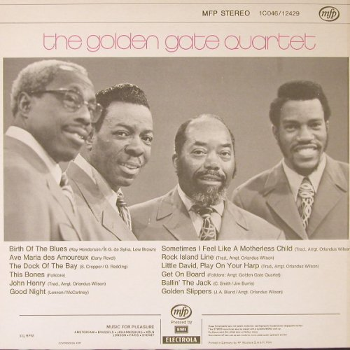 Golden Gate Quartet: Same, MFP(1 C 046/12429), D,  - LP - E8234 - 4,00 Euro