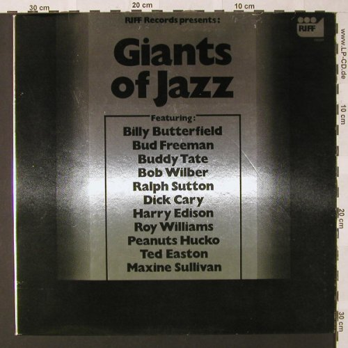 V.A.Giants Of Jazz: f.Billy Butterfield..MaxineSullivan, Riff(190001), NL, 1976 - LP - E9112 - 5,00 Euro