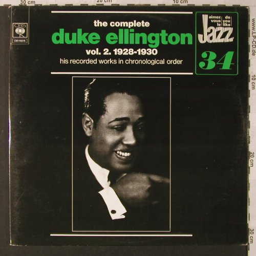 Ellington,Duke: The Complete Vol. 2, 1928-30, Foc, CBS(68 275), NL, 1973 - 2LP - F1624 - 7,50 Euro