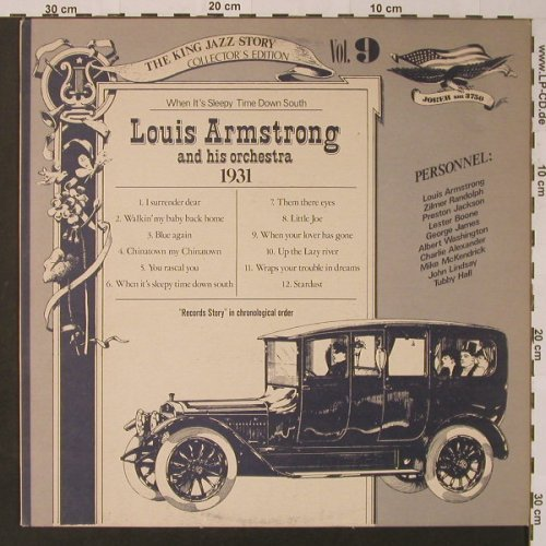 Armstrong,Louis and his Orchestra: Vol.9, 1931-When It's Sleepy Time.., Joker(SM 3750), I, 1975 - LP - F3600 - 5,00 Euro