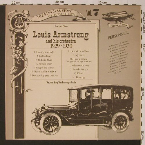 Armstrong,Louis and his Orchestra: Vol. 7-1929-30,Rockin'Chair, vg+/m-, Joker(SM 3748), I, 1975 - LP - F3645 - 2,50 Euro