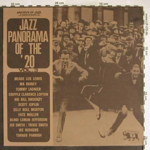 V.A.Jazz Panorama Of The Twenties: Vol.3, 12 Tr., m-/vg+, Archive Of Jazz(101.591), I, 1971 - LP - F5335 - 5,00 Euro