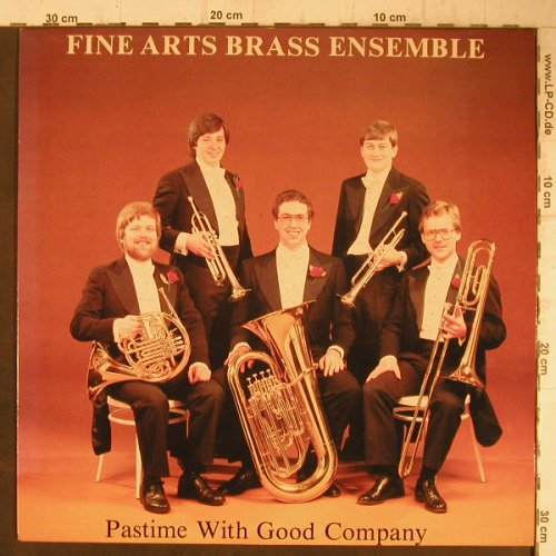 Fine Arts Brass Ensembe: Pastime with good Company, vg+/m-, Happy Face Recordings(MMLP 1026), UK, sign., 1983 - LP - F7464 - 6,00 Euro