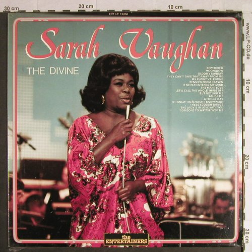 Vaughan,Sarah: The Divine, FS-New, Entertainers(ENT LP 13036), I, 1987 - LP - H1109 - 7,50 Euro