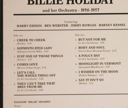 Holiday,Billie: and her Orchester , 1956-1957, Giants o.J(LPJT 80), I, 1988 - LP - H1131 - 6,00 Euro