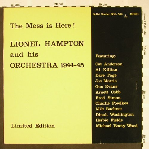 Hampton,Lionel: The Mess Is Here,1944-45, Lim.Ed., Solid Sender(SOL 502), D,Ri(gelb),  - LP - H1812 - 5,00 Euro