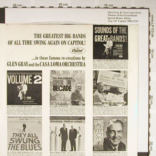 Gray,Glen & Casa Loma Orch.: Themes of the GreatBands,BonusAlbum, Capitol,NoCover(PRO 2193), US,VG+/--,  - LP - H2121 - 5,00 Euro