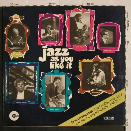 V.A.Jazz As You Like It: Tuxedo Jass Band...Nathan-DavisQ., Center/MPS(17028 ST), D, Foc, 1969 - LP - H2815 - 9,00 Euro