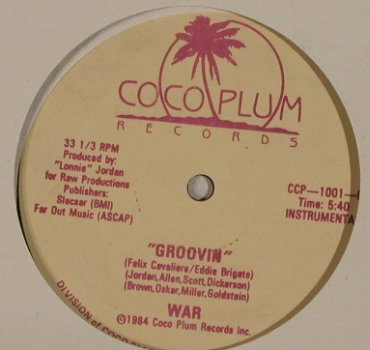 War: Groovin' *2, LC, Coco Plum Rec.(CCP-1001), US, 1984 - 12inch - H2842 - 4,00 Euro