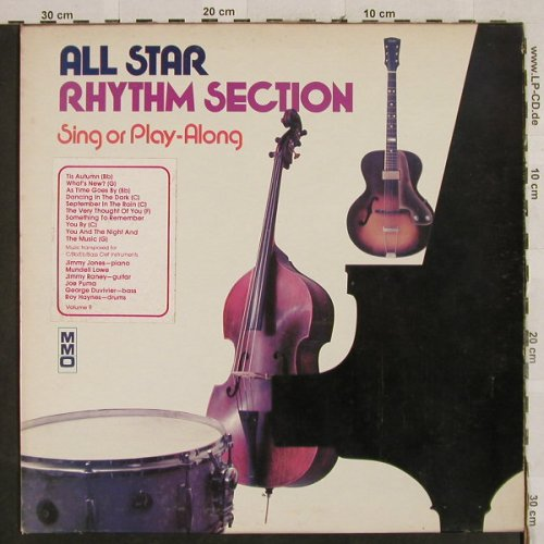 All Star Rhythm Section Vol.9: Sing or Play-Along, Music Minus One(MMO 9), US,  - LP - H2868 - 6,00 Euro