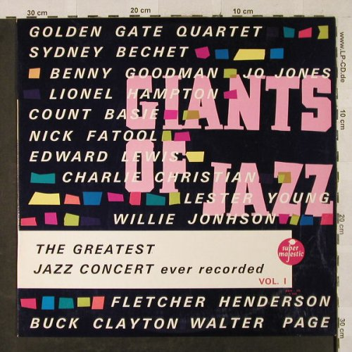 V.A.Giants Of Jazz: The Greatest Jazz Conc.ever rec. 1, Super Majestic(BBH VS 1.740), F,Ri, 1966 - LP - H2950 - 5,00 Euro