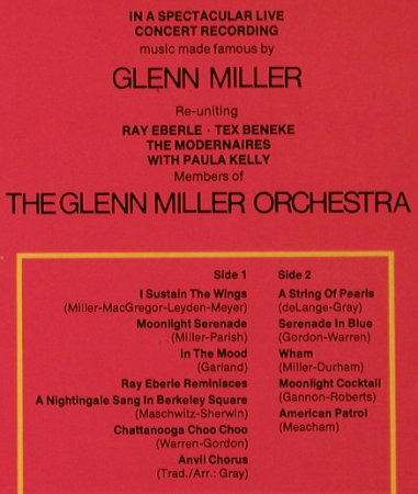 Glenn Miller Orchestera: Glen Miller Hits,Live in Stereo, WB, Club-Aufl.(61 962), D,  - LP - H3208 - 6,00 Euro