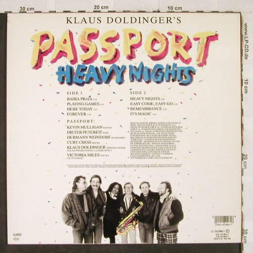 Passport: Heavy Nights, WEA(242 006-1), D, 1986 - LP - H3231 - 6,00 Euro