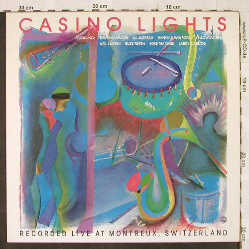 V.A.Casino Lights: Al Jarreau,R.Crawford,Sanborn..., WB(92.3718-1), D, 5Tr., 1982 - LP - H3242 - 5,00 Euro