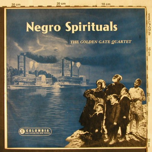 Golden Gate Quartet: Negro Spirituals, vg+/vg+, bad cond, Columbia(), UK,  - LP - H3335 - 4,00 Euro