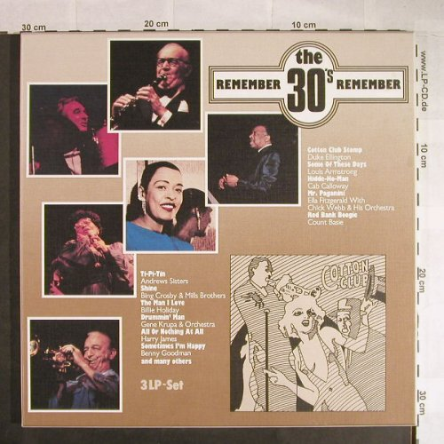 V.A.Remember The 30's: Andrew Sisters,B.Holiday,C.Basie..., SCANA(9019/3), D,Box,  - 3LP - H527 - 6,50 Euro