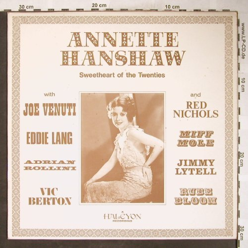 Hanshaw,Annette: Sweetheart of the Twenties, vg+/vg+, Halcyon(HAL 5), UK,  - LP - H6104 - 5,00 Euro