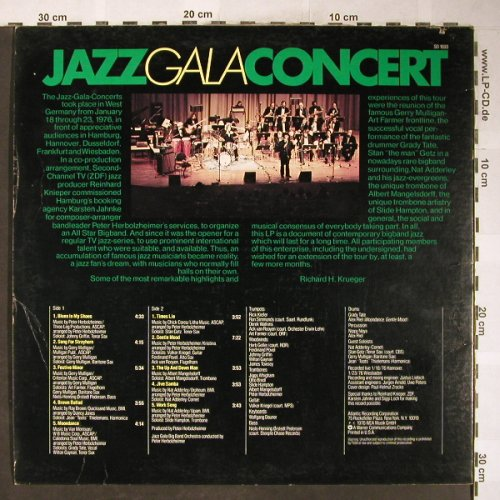 V.A.Jazz Gala Concert: Gerry Mulligan..Peter Herbolzheimer, Atlantic(SD 1693), US, co, 1976 - LP - H6127 - 7,50 Euro