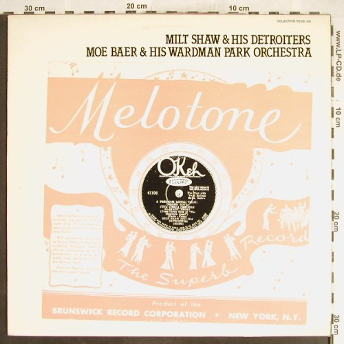 Shaw,Milt & h.Detroiters/Joe Baer..: Same(Melotone), Collectors Item(018), UK,  - LP - H6199 - 6,50 Euro