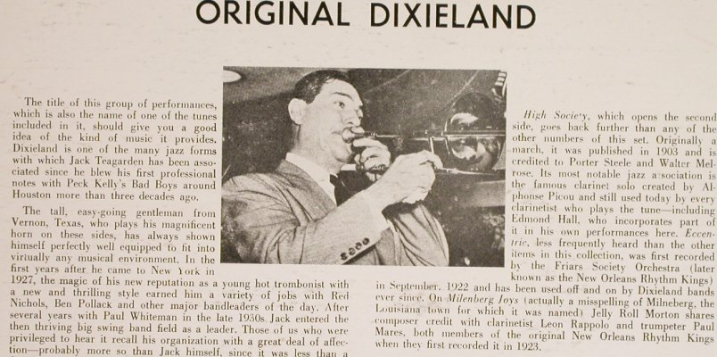 Teagarden,Jack: Original Dixieland, Everest Records(FS 335), US,  - LP - H6277 - 5,00 Euro