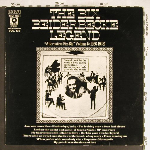 Beiderbecke,Bix: The B.B.Legend Vol.5,26-28, vg+/vg+, RCA Vol.135(FXM1 7092), F,  - LP - H6305 - 4,00 Euro