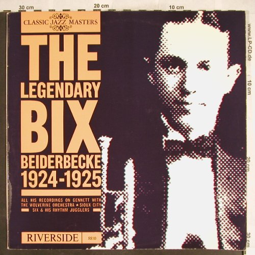 Beiderbecke,Bix: The Legendary Bix,Foc 1924-1925, Riverside(8810), NL,  - LP - H6310 - 5,00 Euro