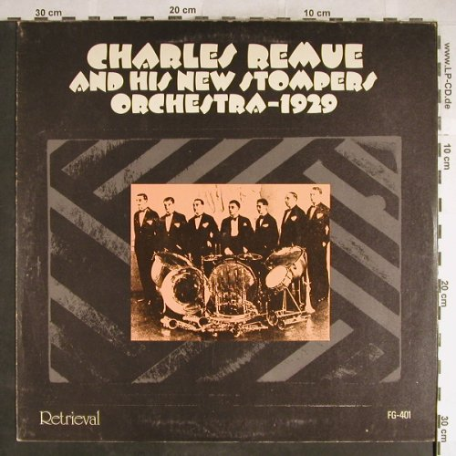Remue,Charles &h.New Stompers Orch.: 1929, The Recordings, m-/vg+, Retrieval(FG-401), UK, 1974 - LP - H6420 - 5,00 Euro