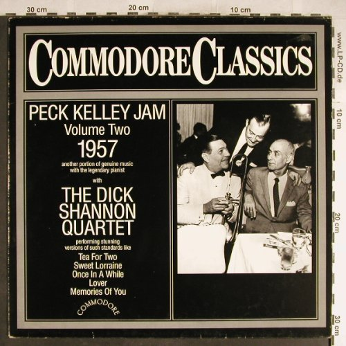 Kelley,Peck  Jam/Dick Shannon Q.: Vol.2, 1957, Commodore(6.25528 AG), D, 1983 - LP - H6438 - 5,00 Euro