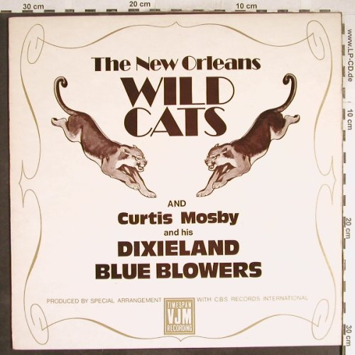 New Orleans Wild Cats: Curtis Mosby &h. Dixieland Bl.Blow., VJM(VLP 38), UK, Ri, 1974 - LP - H6561 - 6,00 Euro
