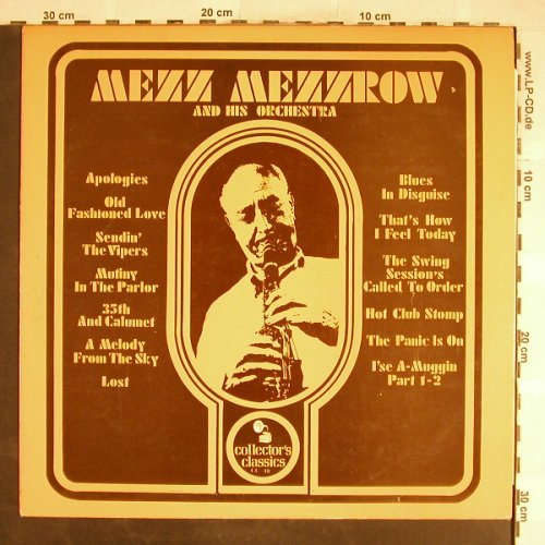 Mezzrow,Mezz  and his Orchestra: Same, Collector's Classic(CC 48), ,  - LP - H6671 - 5,00 Euro