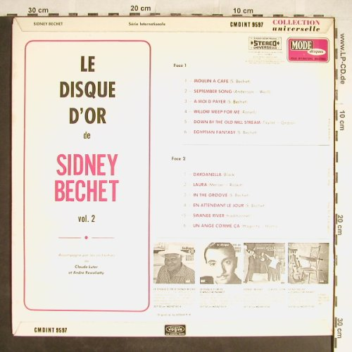 Bechet,Sidney: Le Disque D'Or -  Vol.2, vg+/m-, Mode(CMDINT 9597), F,  - LP - H6702 - 4,00 Euro