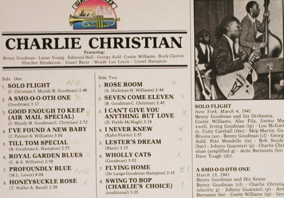 Christian,Charlie: Same, Giants Of Jazz(LPJT 13), I, 1984 - LP - H6715 - 5,00 Euro