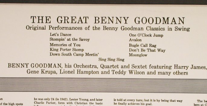 Goodman,Benny: The Great, Ri, re-channeled, Columbia(PC 8643), US, co,  - LP - H6795 - 6,00 Euro
