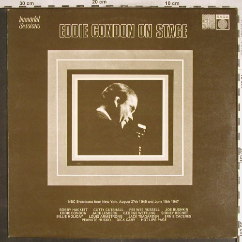 Condon,Eddie: On Stage, rec 1947/49, Saga(SAGA 6916), UK, 1973 - LP - H6865 - 7,50 Euro