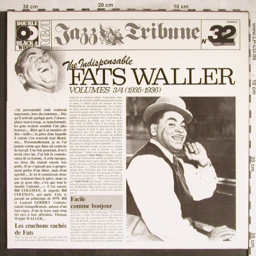 Waller,Fats: The Indispensable Vol.3/4, Foc,Ri, RCA,JazzTribune32(NL 89819(2)), D, 1972 - 2LP - H7003 - 7,50 Euro