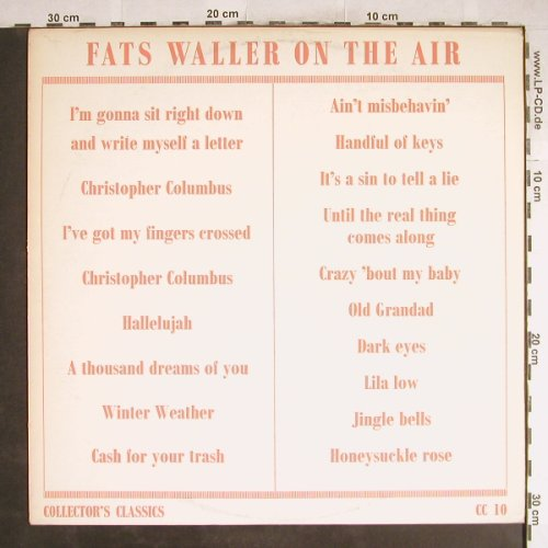 Waller,Fats: On The Air, m-/vg+, Collector's Classics(CC 10), UK,  - LP - H7110 - 6,00 Euro