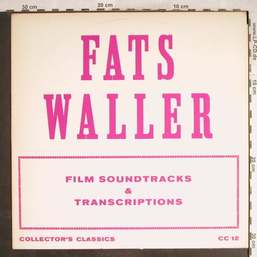 Waller,Fats: Film Soundtracks, woc, Collector's Classics(CC 12), UK,  - LP - H7113 - 6,00 Euro