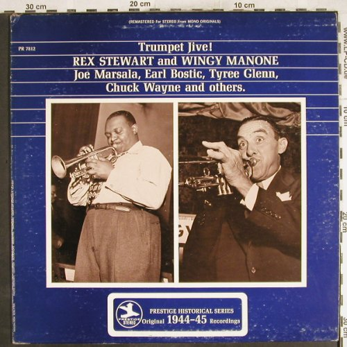 Stewart,Rex and Wingy Manone: Trumpet Jive ! Joe Marsala,Bostic.., Prestige(PR 7812), US,m-/vg+, 1972 - LP - H7242 - 9,00 Euro